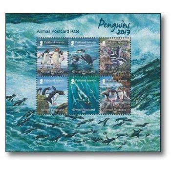 Pinguine - Briefmarken-Block postfrisch, Falkland-Inseln
