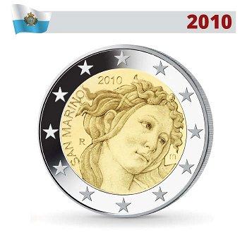 2 Euro Münze 2010, Sandro Botticelli, San Marino