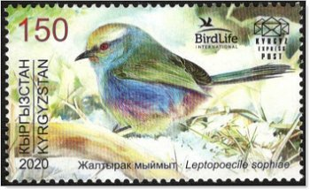Vogel des Jahres 2020 - Briefmarke postfrisch, Kirgisien