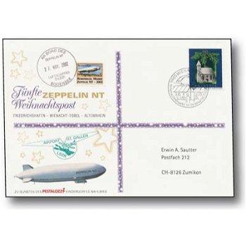Zeppelin NT, Friedrichshafen - Wienacht-Tobel - Altenrhein - Weihnachtspost 2002, Beleg, Schweiz