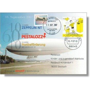 Zeppelin NT, anniversary flight 2007 - document, Germany