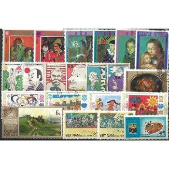 Kunst und Gemälde - 500 verschiedene Briefmarken