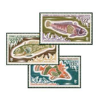 Fische der Antarktis - 3 Briefmarken postfrisch, Katalog-Nr. 68-70, TAAF
