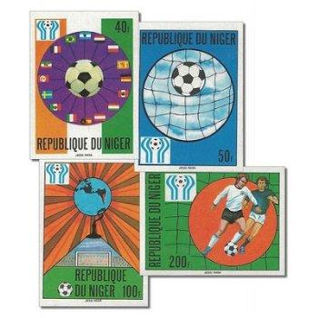 Fußballweltmeisterschaft 1978 - 4 Briefmarken ungezähnt postfrisch, Katalog-Nr. 619-622, Niger