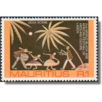 Festival schwarzafrikanischer Kunst und Kultur - Briefmarke postfrisch, Katalog-Nr. 424, Mauritius