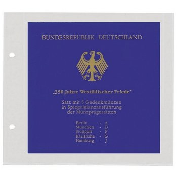 SAFE - Münz-Blatt für PP-Sätze, Safe 7386