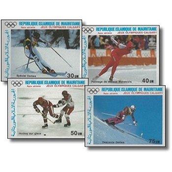 Olympische Winterspiele Calgary - 4 Briefmarken ungezähnt postfrisch, Kat.-Nr. 912-915, Mau