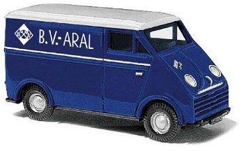 Modellauto:DKW 3=6 Kastenwagen - ARAL -(Busch, 1:87)