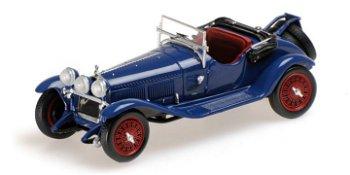 Modellauto:Alfa Romeo 6C 1750 G. S. von 1930, blau(Minichamps, 1:43)
