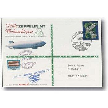 Zeppelin NT, Friedrichshafen - Engelburg - Altenrhein - Weihnachtspost 2000, Beleg, Schweiz