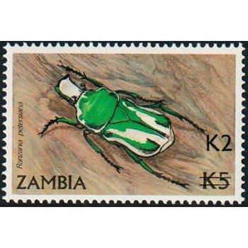 Käfer, Ranzania Petersiana - Briefmarke mit lokalem Aufdruck, Katalog-Nr. 577, Sambia