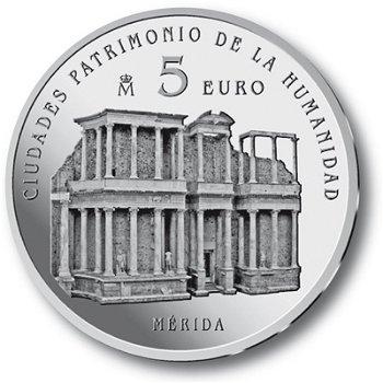 UNESCO Weltkulturerbe/Mérida - 5 Euro Silbermünze Spanien