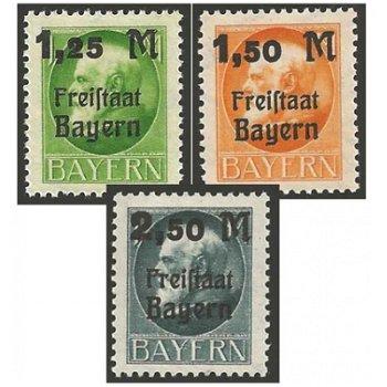 König Ludwig III. - Katalog-Nr. 174-176 A postfrisch, Bayern