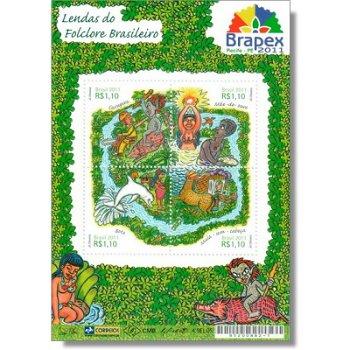 Volkssagen: Briefmarkenaustellung Brapex 2011 - Briefmarken-Block postfrisch, Brasilien