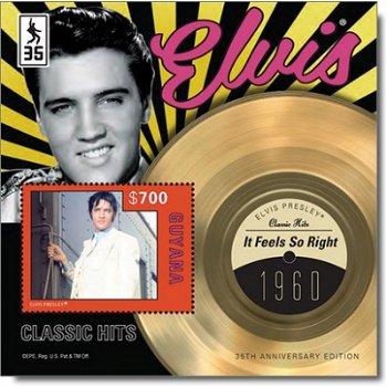 "Elvis Presley ""It feels so Right"" - Briefmarken-Block postfrisch, Guyana"