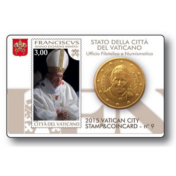 Papst Franziskus, Stamp & Coincard Nr. 9, Vatikan