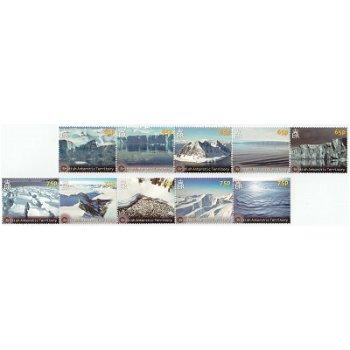 Eislandschaften - 2 x 5 Briefmarken im Streifen, postfrisch, BAT