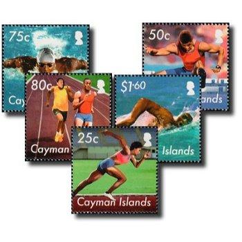Olympische Spiele 2012 - 5 Briefmarken postfrisch, Katalog-Nr. 1211-1215, Kaiman-Inseln
