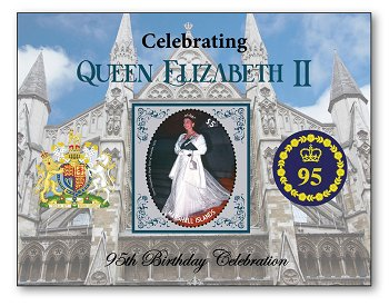 95th birthday of Queen Elizabeth II - stamp pad mint never hinged, Marshall Islands