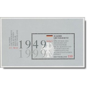 50 Jahre Grundgesetz, Block 48 postfrisch, Katalog-Nr. 2050, Bundesrepublik