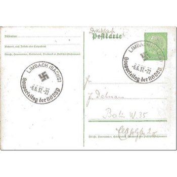 "6801 Limbach - Ganzsache ""Gauparteitag"""