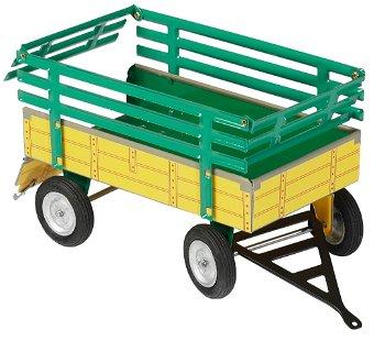 Blechmodell:2-Achs-Anhänger - Heuwagen -, gelb/grün(Kovap, 1:25)