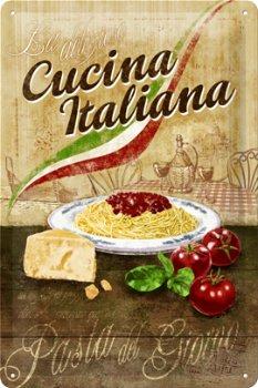Blechschild:- Cucina Italiana -(Nostalgic Art, 20 x 30 cm)