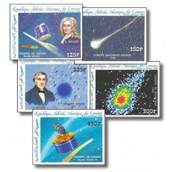 Halleyscher Komet – Briefmarken postfrisch, ungezähnt, Katalog-Nr. 772-776, Komoren
