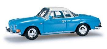Modellauto:VW Karman Ghia II, blau-weiß(Herpa, 1:87)