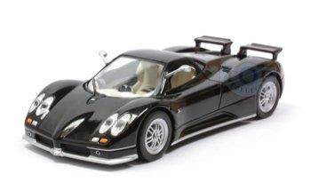 Modellauto:Pagani Zonda C12S von 2001, schwarz(IXO Models, 1:43)