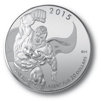 Superman, 20 Dollar Silbermünze im Blister, Canada