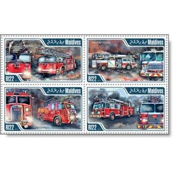 Feuerwehr - 4 Briefmarken postfrisch, Katalog-Nr. 5008 - 5011, Malediven