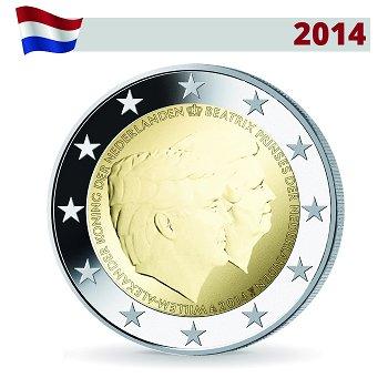 2-Euro-Münze 2014, König Willem Alexander und Prinzessin Beatrix, Niederlande