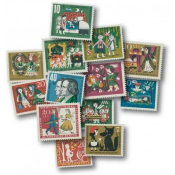The unique fairy tale lot - 52 stamps mint never hinged, Germany
