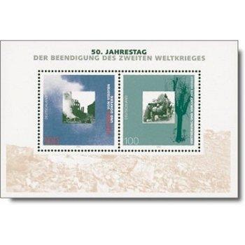 50 Jahre Ende des II. Weltkrieges, Block 31 postfrisch, Katalog-Nr. 1794-95, Bundesrepublik