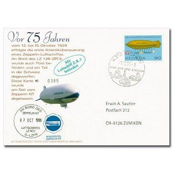 """75 Jahre """"1. Atlantiküberquerung eines Zeppelin-Luftschiffes"""", Schweiz"""
