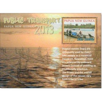 Transportmittel - Briefmarken-Block postfrisch, Papua Neuguinea