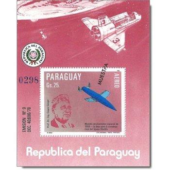 Weltraum: Space Shuttle - Briefmarken-Block postfrisch, Katalog-Nr. 3607 Bl. 383, Paraguay