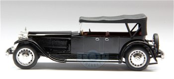 Modellauto:Bugatti 41 Royal Torpedo von 1927, schwarz(Rio, 1:43)
