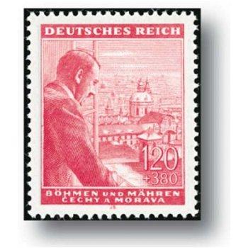 Der 54. Geburtstag - 2 Briefmarken postfrisch, Katalog-Nr. 126 - 127, Böhmen und Mähren
