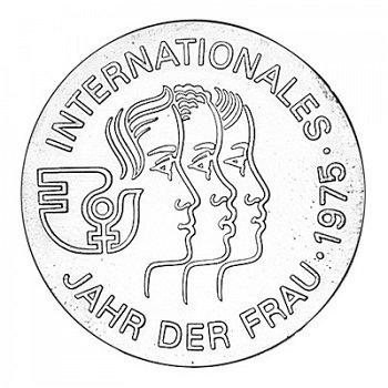 """5-Mark-Münze 1975 """"Internationales Jahr der Frau"""", DDR"""