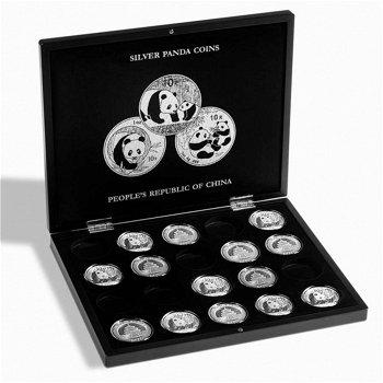 Münzkassette für 20 Panda-Silbermünzen, schwarz Leuchtturm 344580