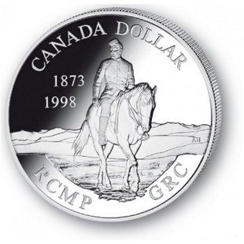 Mounted Police - Silberdollar 1998, 1 Dollar Silbermünze, Canada