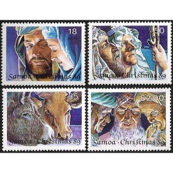 Weihnachten – vier Briefmarken postfrisch, Katalog-Nr. 692-695, Samoa