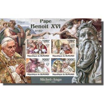 Papst Benedikt XVI. - Briefmarken-Block, Burundi