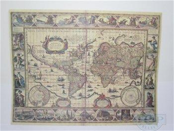 Historische Weltkarte - 17. Jahrhundert