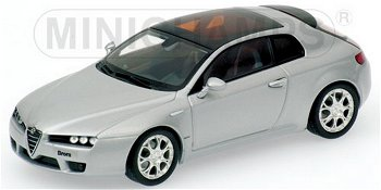 Modellauto:Alfa Romeo Brera von 2005, silber(Minichamps, 1:43)