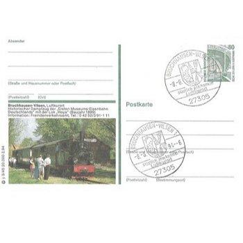 """2814 Bruchhausen-Vilsen - Bildpostkarte """"Historischer Dampfzug"""""""