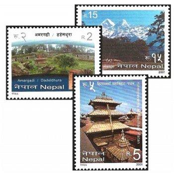 Tourismus – drei Briefmarken postfrisch, Katalog-Nr. 740-742, Nepal