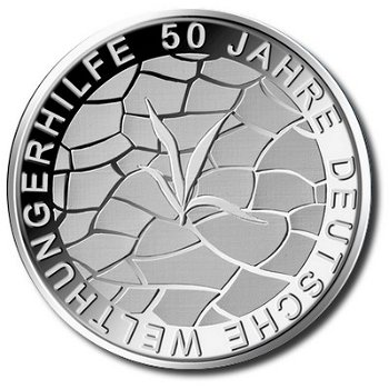 50 years of Welthungerhilfe, 10 Euro silver coin 2012, Proof